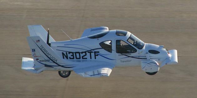 Terrafugia Transition Roadable Aircraft maiden flight