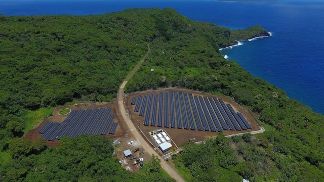 Tesla and SolarCity solar farm on Ta'u, American Samoa