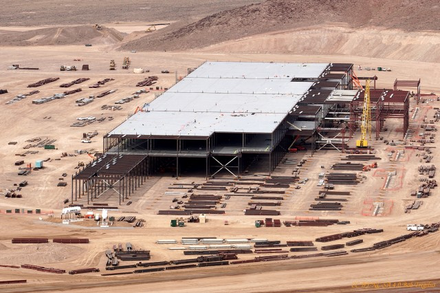 Tesla battery gigafactory site, Reno, Nevada, Feb 25, 2015  [photo: CC BY-NC-SA 4.0 Bob Tregilus]