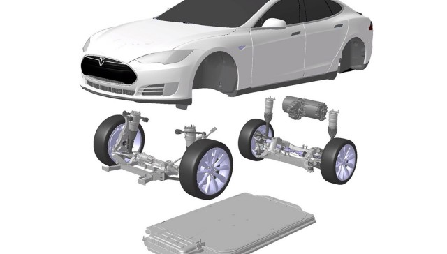 Tesla electric powertrain
