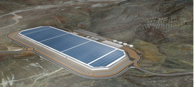 Tesla Gigafactory battery plant in Nevada