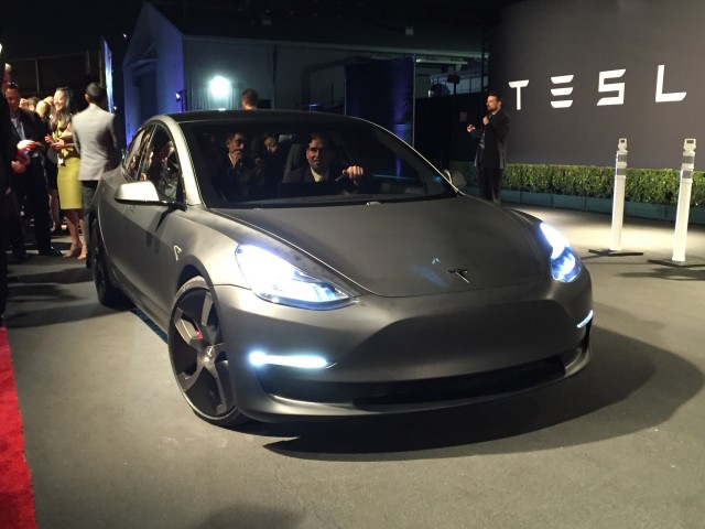 Tesla Model 3 design prototype - reveal event - March 2016
