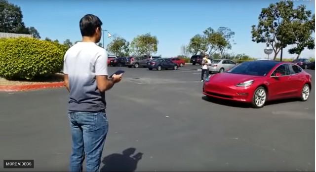Tesla Model 3 Enhanced Summon Video Still By Your Nagaraj Kelageri