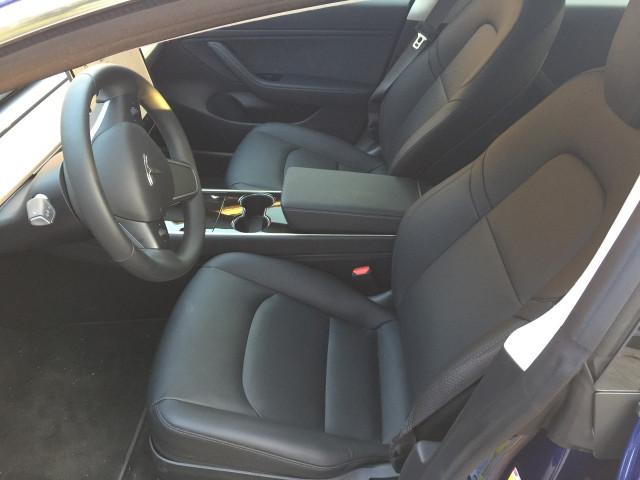 Tesla Model 3 interior [photo: Tom Moloughney]