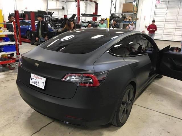 Tesla Model 3 Spotted At Service Center