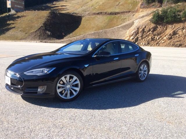 Tesla Model S at Cypress Mountain British Columbia Canada