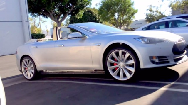 Tesla Model S convertible by Newport Convertible Engineering