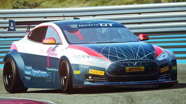 Tesla Model S P100d Electric Production Car Series Race