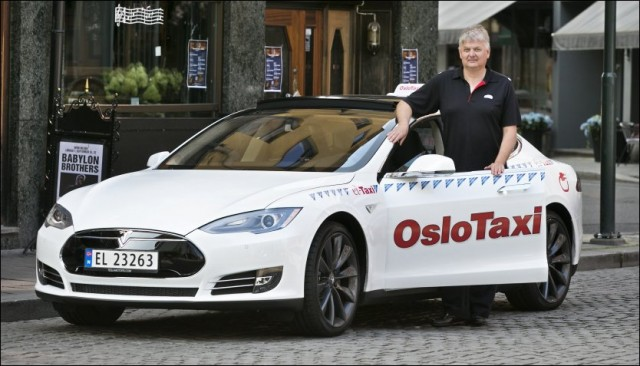 Tesla Model S taxi in Oslo, Norway [photo: Tesla Motor Club]