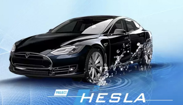 A Tesla Model S That Runs On Hydrogen Fuel Cells Dutch Firm - A tesla
