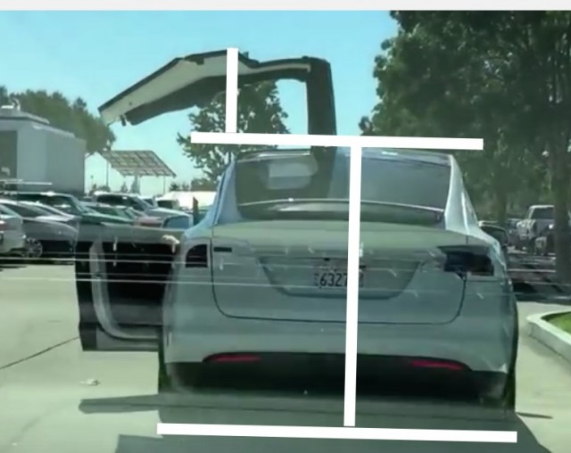 Tesla Model X falcon doors height estimation Randall Hamlet & Tesla Model X: Will Falcon Doors Be A \u0027Killer App\u0027 Or A Handicap?