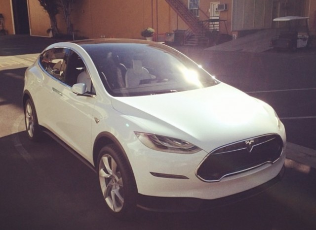 Tesla Model X prototype in Culver City, California [photo by Instagram user jmtibs]