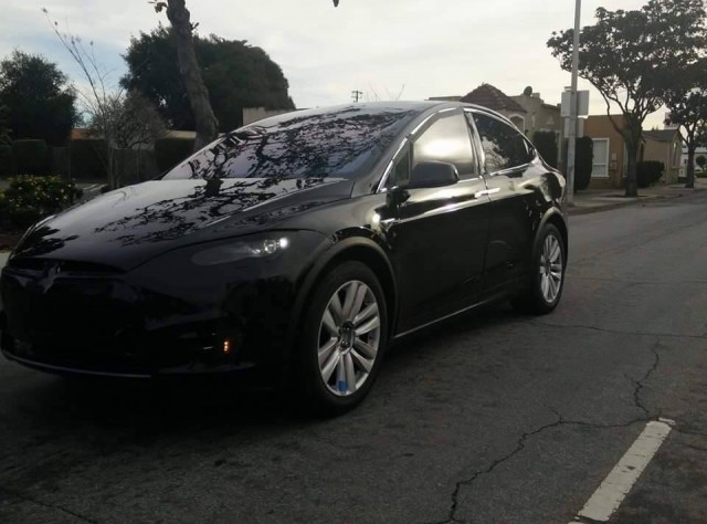 Tesla Model X prototype photographed on test, California, Feb 2015. Photo by Simerjit Dhaliwal.