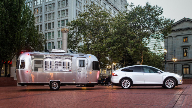 Tesla Model X towing