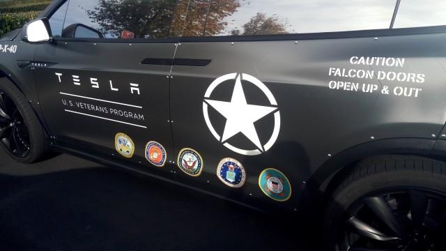 Custom Tesla Model X Thanks Company S Veterans Model S Too