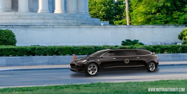 Tesla presidential limo rendering