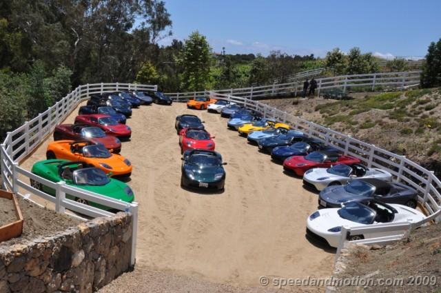 Tesla Roadster Rally