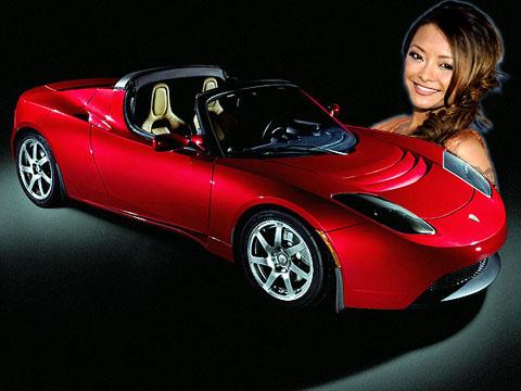 Tesla Roadster + Tila Tequila
