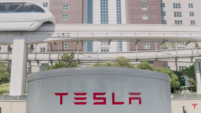 Tesla Supercharger V3 station - Las Vegas Strip