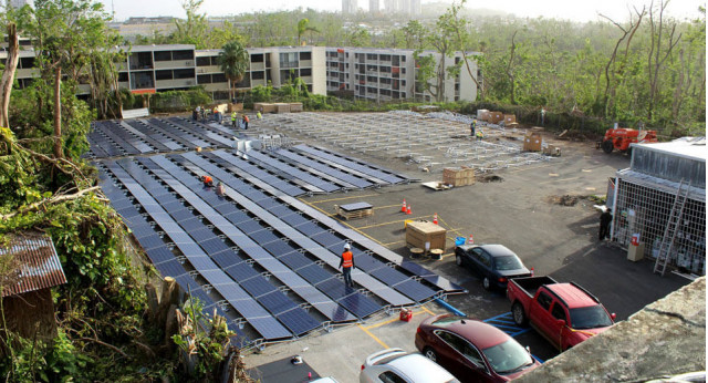 Tesla installs solar panels at Puerto Rican hospital
