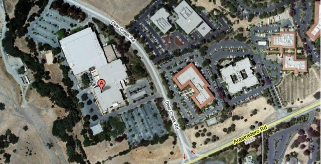 Tesla's new facility in Palo Alto, California