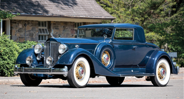 The 1934 Packard Twelve coupe has movie-star provenance
