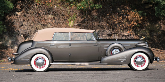 The 1936 Cadillac V-16 convertible sedan is a Pebble Beach Concours class winner