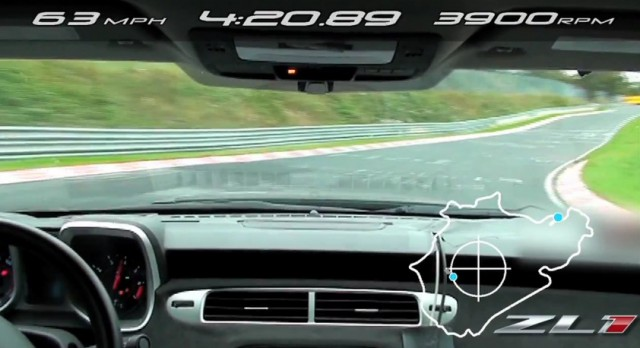 The 2012 Chevy Camaro ZL1 makes its Nurburgring lap