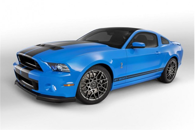 The 2013 Shelby GT500 durability car, for sale at Barrett-Jackson.