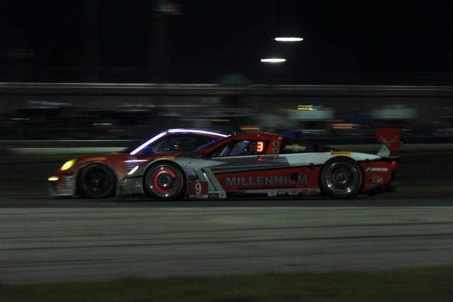 The 2014 Rolex 24 at Daytona at night