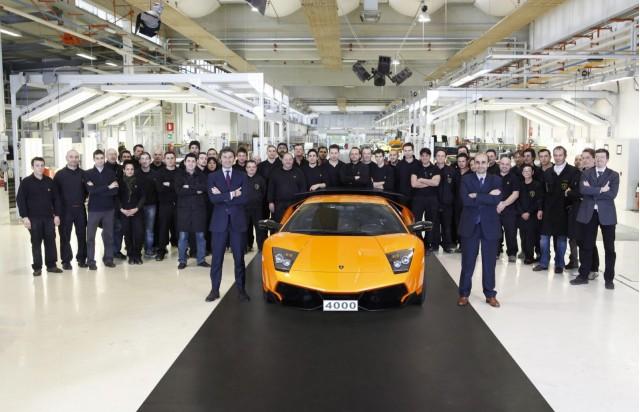 The 4,000th Lamborghini Murcielago built