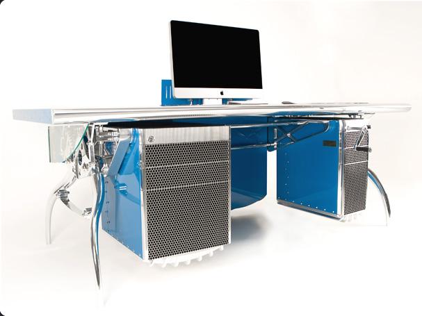 Bugatti inspired desk. Image from Luzzo http://www.luzzobespoke.com/desk-furniture-luzzo-authentic-creations.php