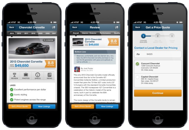 The Car Connection's New iPhone App - Car Reviews, Used Car Listings, Car News, And More