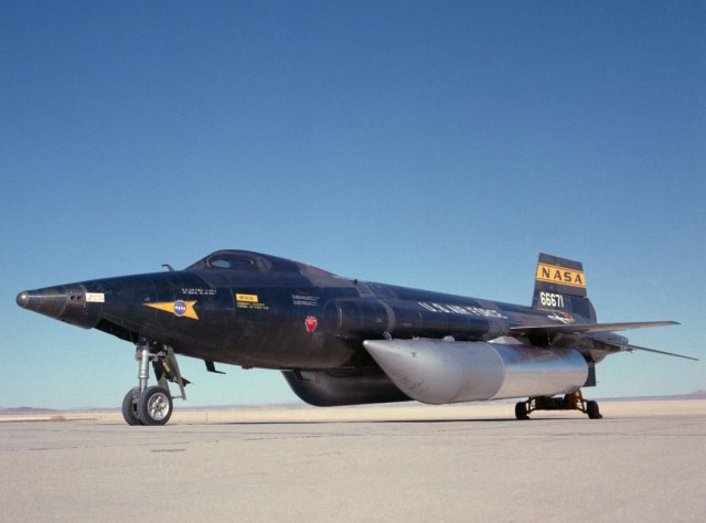 The engine from NASA's X-15 rocket plane will provide the thrust for the Sonic Wind. Image: NASA