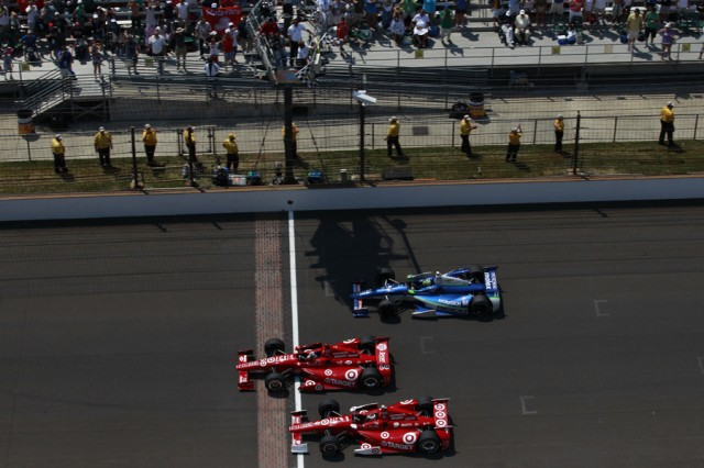 The finish of the 96th Indy 500 - Photo courtesy IZOD IndyCar Series/LAT USA