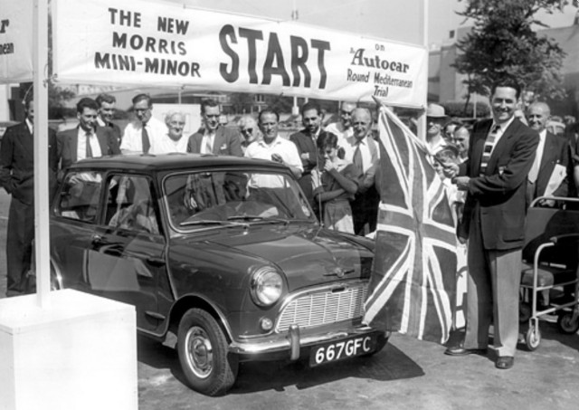 The first Morris Mini-Minor, August 26, 1959