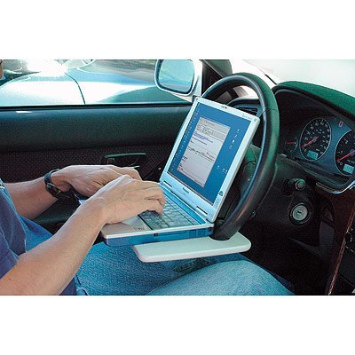 The 'Laptop Steering Wheel Desk' from Mobile Office