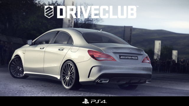 The Mercedes' CLA45 AMG in the upcoming Driveclub game for the Sony PS4