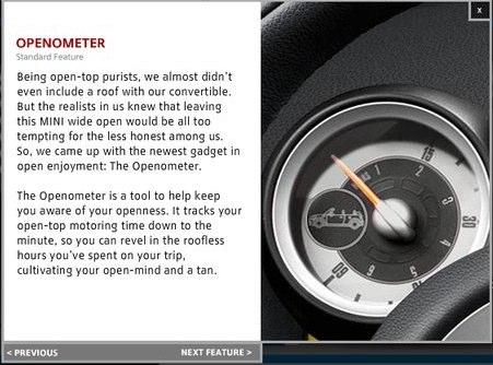 The MINI Cooper's New 'Openometer'