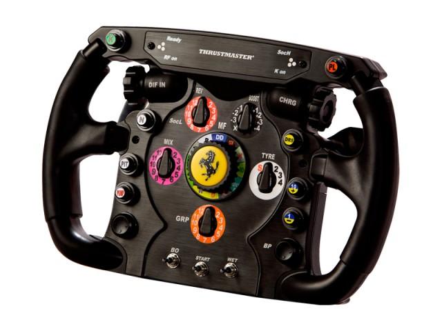 The Thrustmaster Ferrari F150 Italia wheel. Image: Thrustmaster