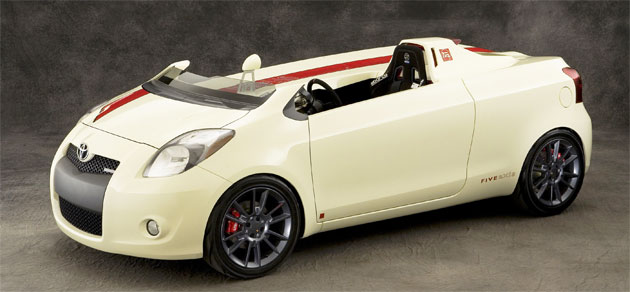 The single-seat Yaris Club pairs today's econo-hatch with 1960s racing heritage