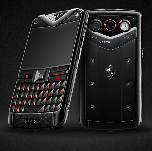 The Vertu Constellation Quest Ferrari smartphone.