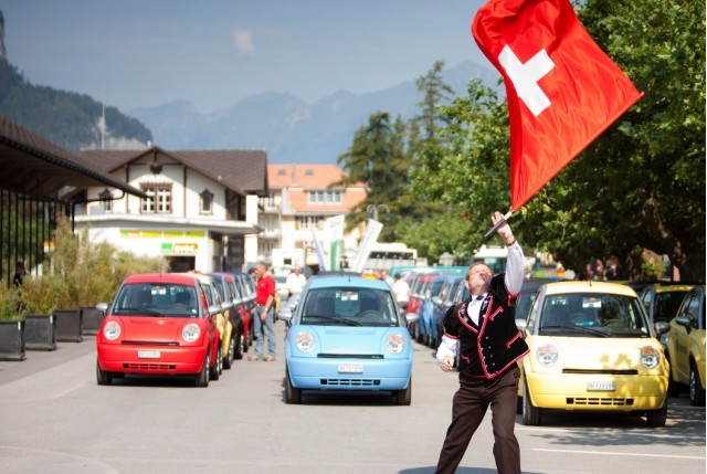 THINK City on hire in the Alps - Photo: M-Way