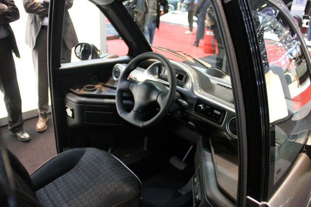 Inside the Mia at 2011 Geneva Motor Show, photo by Robert Llewellyn