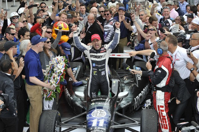Tony Kanaan after winning the 2013 Indianapolis 500
