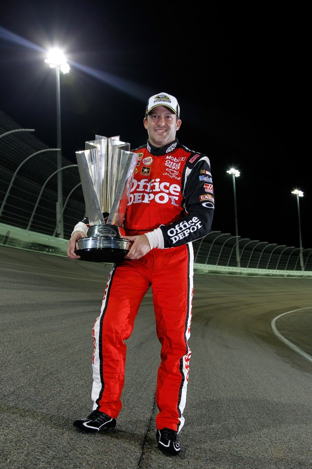 Tony Stewart with the Sprint Cup - NASCAR photo