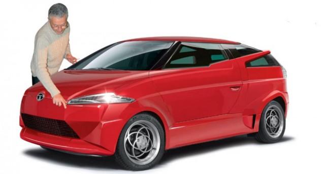Top-secret Tata composite car styled by Marcello Gandini?