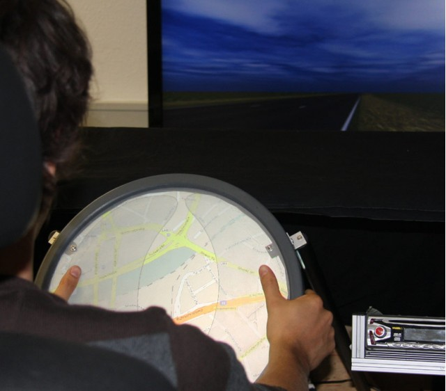 Touchscreen steering wheel. Photo: Discovery News