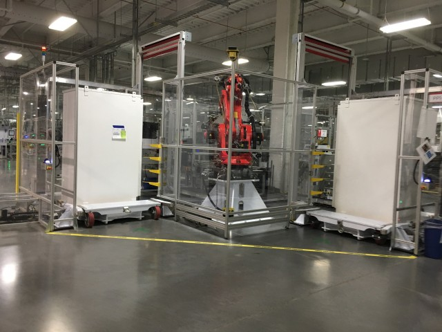 Tour of Tesla battery gigafactory for invited owners, Reno, Nevada, July 2016