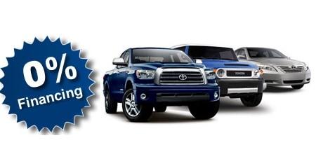 Toyota 0% financing ad